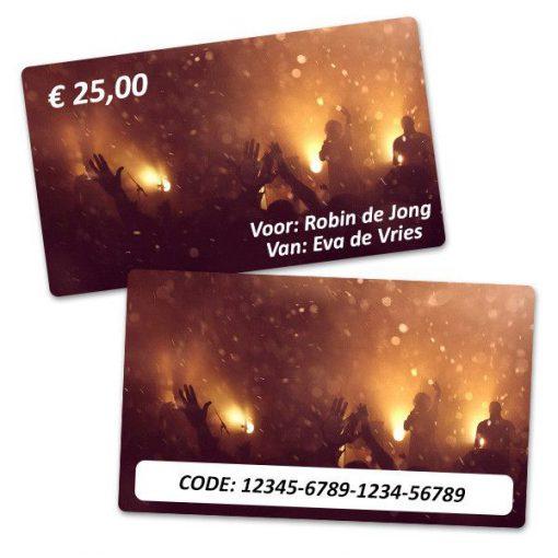 Plektren Bedrucken - Geschenkkarte