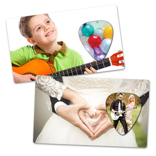 Plektren Bedrucken - Hochzeitskarte PlektrenCard