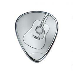 Plektren Bedrucken - Silbernes Gitarrenplektrum