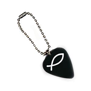 Plektrum Schlüsselanhänger - Kugelkette Schwarz
