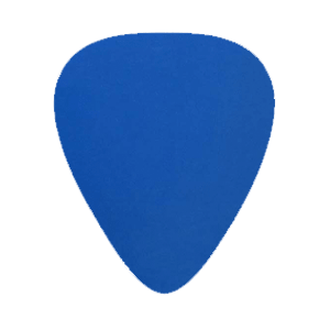 Nylon Gitarren Picks - Blau