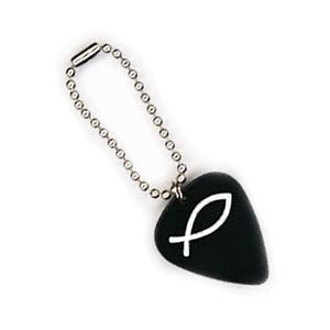 Plektrum Schlüsselanhänger - Kugelkette Silber