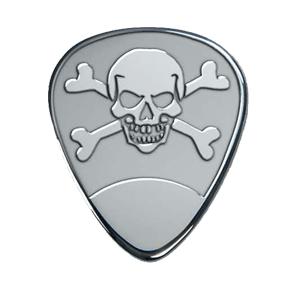 Silbernes Gitarrenplektrum - Schädel